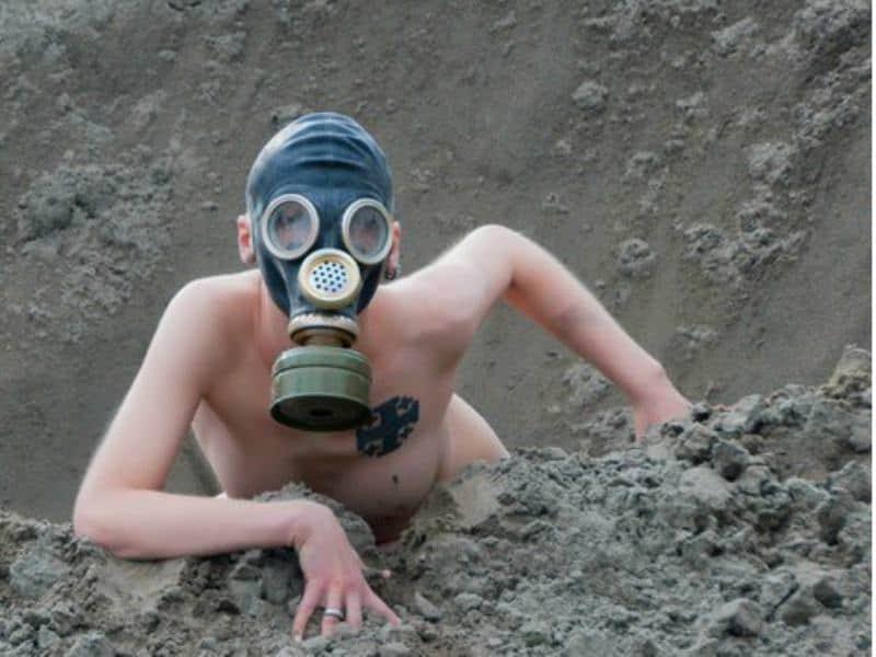 gas mask fetish, hoods, women in gas masks