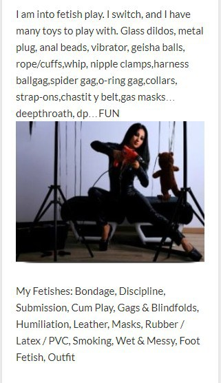 fetish dominatrix